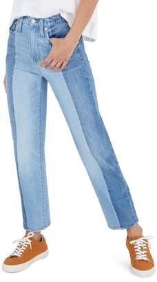 Madewell Pieced Edition Classic Straight Jeans