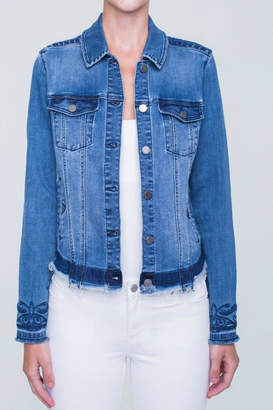Liverpool Jean Company Embroidered Denim Jacket