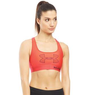 Under Armour Womens HG HeatGear Crossback Graphic Sports Bra Red