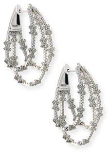 Bessa Looped 18K White Gold & Diamond X Hoop Earrings