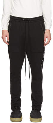 Diet Butcher Slim Skin Black Embroidered Jogger Lounge Pants