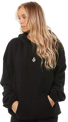 Volcom New Women's Roll It Up Hoody Long Sleeve Cotton Black