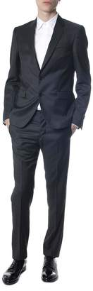 Mauro Grifoni Charcoal Grisaille Wool Suit