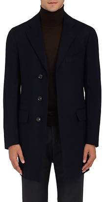 Isaia Men's Cashmere Three-Button Topcoat - Navy
