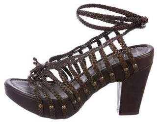 Henry Beguelin Woven Caged Sandals