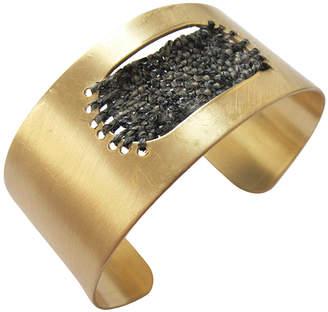 Rebecca Daryl Woven Brass Cuff
