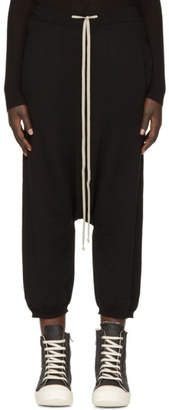 Rick Owens Black Merino Cropped Lounge Pants