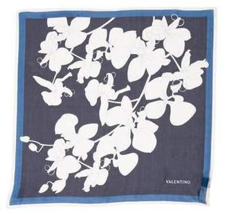 Valentino Silk Floral Handkerchief