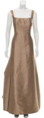 Angel Sanchez Sleeveless Evening Dress