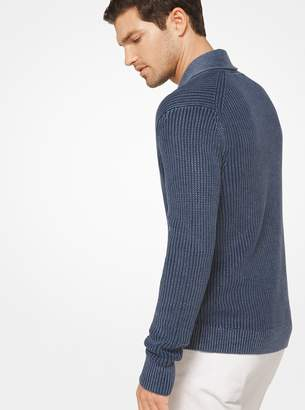 Michael Kors Washed Linen and Cotton Cardigan