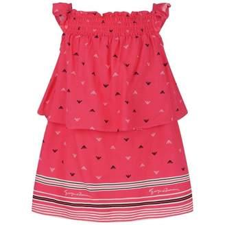 Armani Junior Armani JuniorBaby Girls Fuchsia Logo Print Dress
