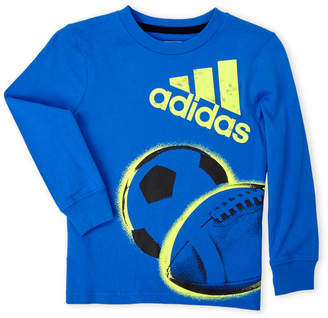 adidas Boys 4-7) Long Sleeve Graphic Tee