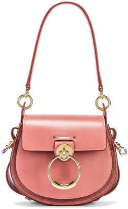 Chloé Small Tess Shiny Calfskin Shoulder Bag in Rusty Pink | FWRD