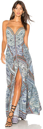 Camilla Tiered Shoestring Dress in Navy $550 thestylecure.com