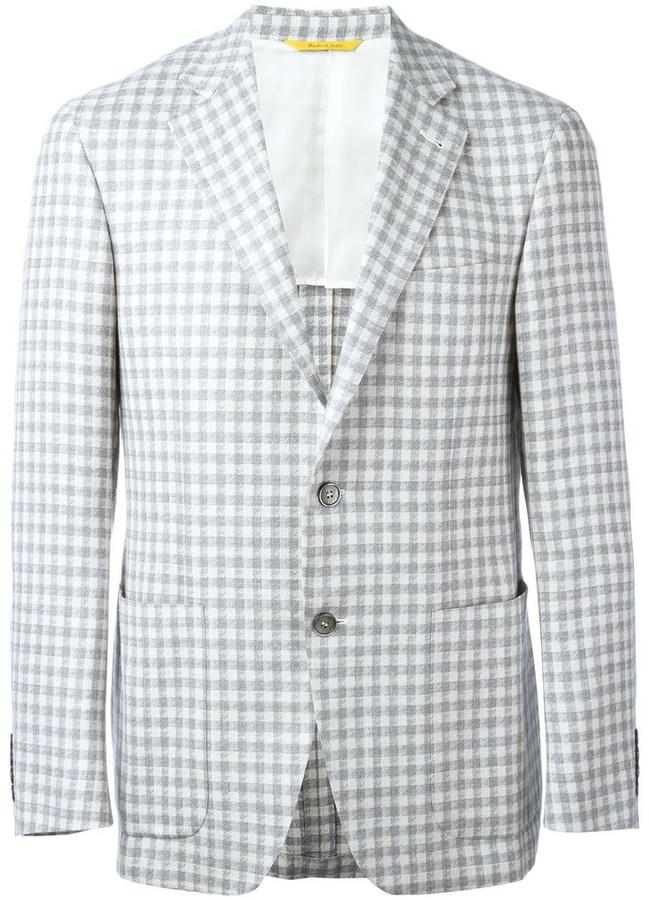 CanaliCanali checked blazer