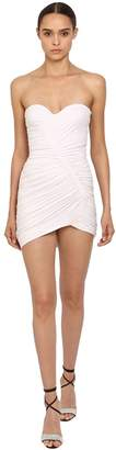 Alexandre Vauthier Draped Stretch Jersey Mini Dress