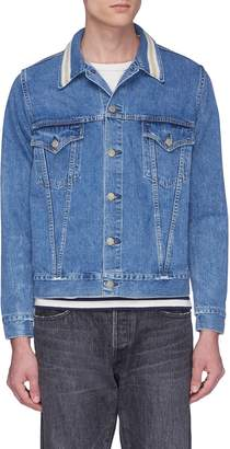 Remi Relief Stripe collar denim jacket