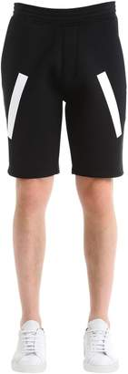 Neil Barrett Stripes Printed Neoprene Shorts