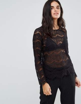 Only Lise Lace Shell Top