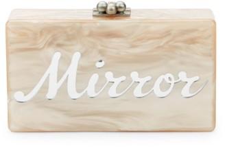 Edie Parker Jean Mirror Mirror Marbled Box Clutch