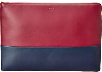 Celine Solo Bi-Color Leather Clutch