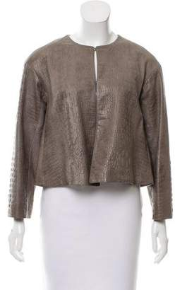 Les Copains Embossed Leather Jacket