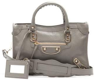 Balenciaga - Metallic Edge City S Bag - Womens - Grey