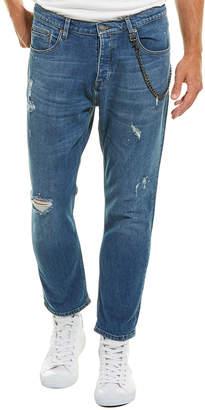 The Kooples Jeans Short Drop Blue Skinny Leg