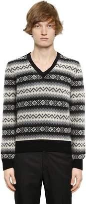 Alexander McQueen Geometric Cashmere Jacquard Sweater