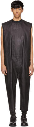 Rick Owens Black Painted Denim Banana Bag Jumpsuit