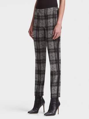 DKNY Printed Slim-Fit Pant With Side Zip