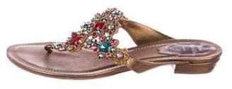 Rene Caovilla Leather Thong Sandals