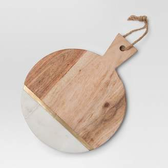 Project 62 Marble and Wood Cheese Cutting Board - Small - Brown