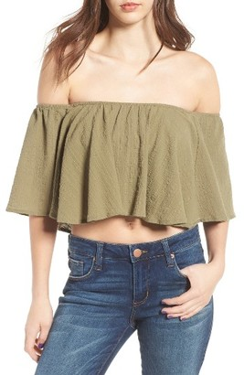 Women's Moon River Off The Shoulder Crop Top $70 thestylecure.com