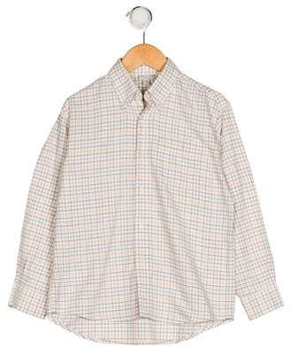 Papo d'Anjo Boys' Printed Button-Up Shirt
