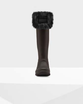 Hunter Women's Original Faux Fur Cuff Boot Socks