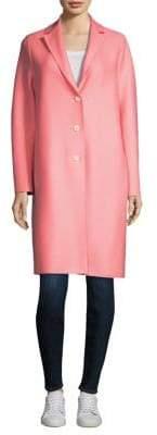 Harris Wharf London Wool Button-Front Coat