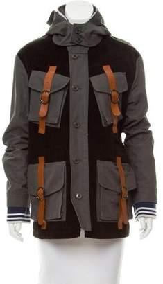 Rodarte Leather-Trimmed Corduroy Jacket