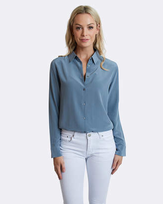 Blue Steel Silk Shirt