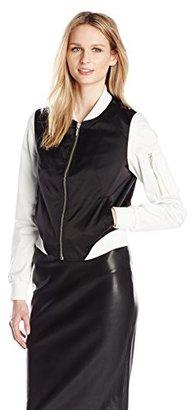 Eleven Paris Women's Number Colorblock Bomber Jacket $97.38 thestylecure.com
