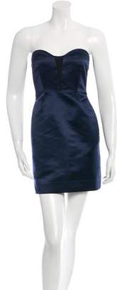 Rag & Bone Colorblock Strapless Silk Dress