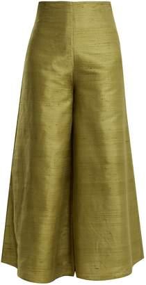 RHODE RESORT Belle high-rise wide-leg silk trousers