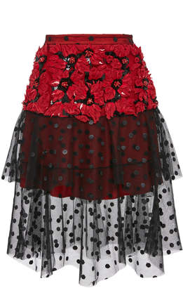 Poinsettia Flower Skirt
