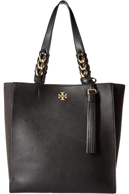 Tory Burch Brooke Tote Tote Handbags - BLACK - STYLE