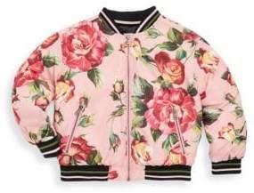 Dolce & Gabbana Girl's Floral Bomber