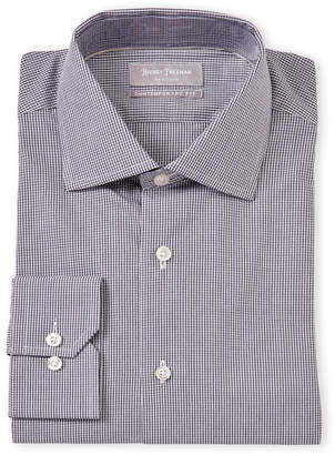 Hickey Freeman Contemporary Fit Small Check Dress Shirt