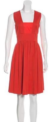 Philosophy di Alberta Ferretti Square Neck Sleeveless Dress