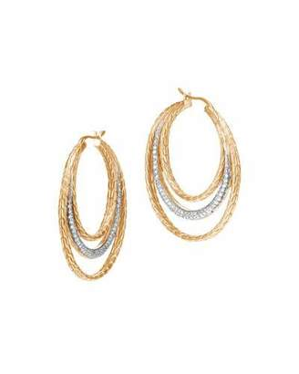 John Hardy Classic Chain 18K Multi-Hoop Earrings with Diamonds