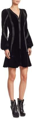 Alexander McQueen Women's Draped Velvet Dress