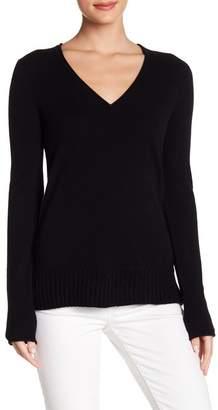 Inhabit Cashmere Rib Hem V-Neck Sweater
